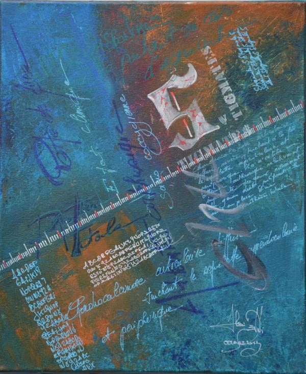 Peinture, série sur la souffrance ... '' Stigmates V ''