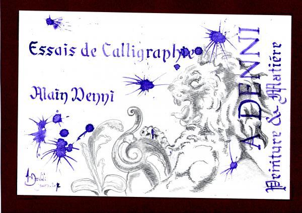Essais de Calligraphie et ...taches