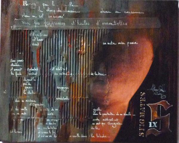 Peinture, série sur la souffrance... '' Stigmates IX ''
