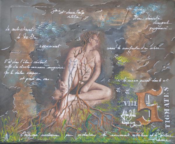 Peinture , serie sur la souffrance ... '' Stigmates VIII ''
