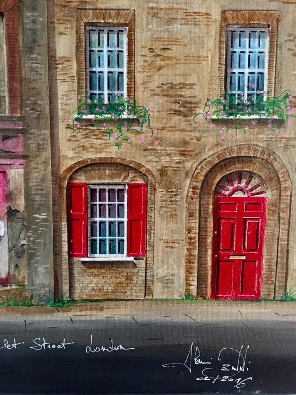 Extrait de toile : 4 Princelet street à Londres