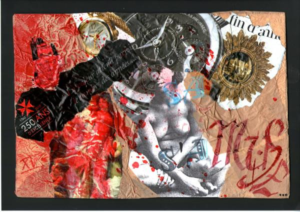 Calligraphie & Collages n°15 .                                    février 2012