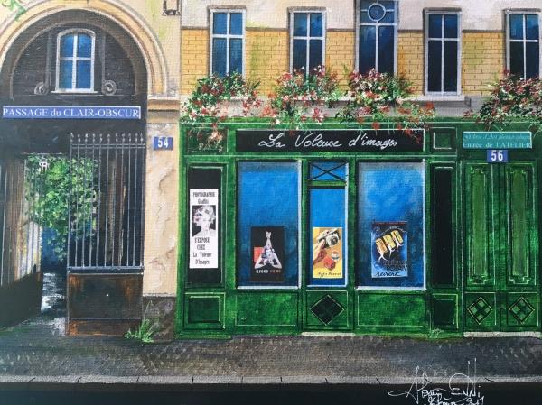 Toile : Rue des Freres Lumiere ( format: 8F - medium : Acrylique et technique mixte )