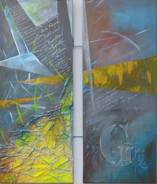 Peinture, série sur la souffrance ... '' G mal ''