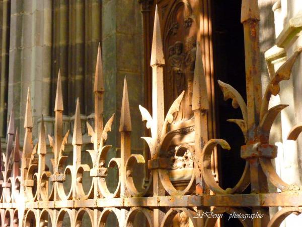 Série photographie : Nancy , grilles de la Basilique St Epvre.