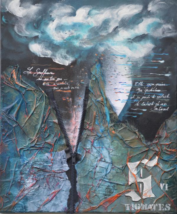 Peinture, série sur la souffrance ''Stigmates VI ''