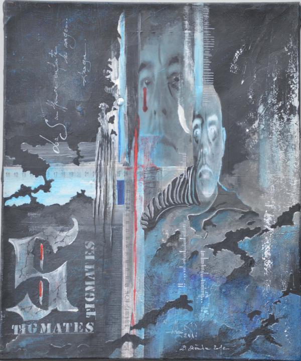 Peinture, série sur la souffrance ... '' Stigmates II ''