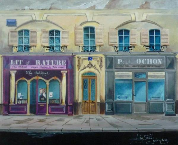 Peinture : oeuvre du 01/2013   Série  figurative ... '' Renaissance Urbaine ''