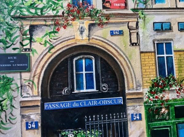 Extrait d'une toile : Rue des Freres Lumieres
