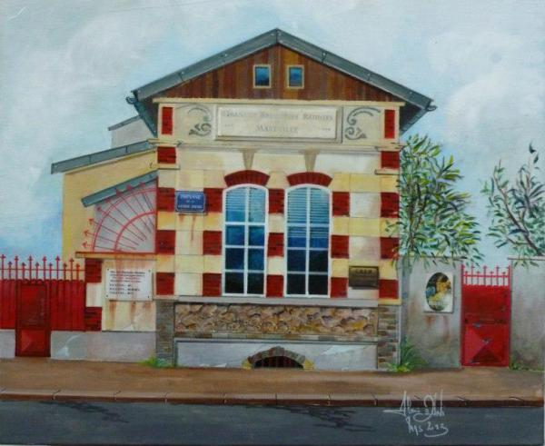 Peinture : oeuvre du 03/2013 Série  figurative ... '' Renaissance Urbaine ''