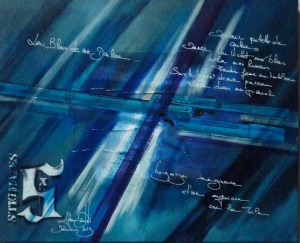 Peinture, série sur la souffrance '' Stigmate X ''
