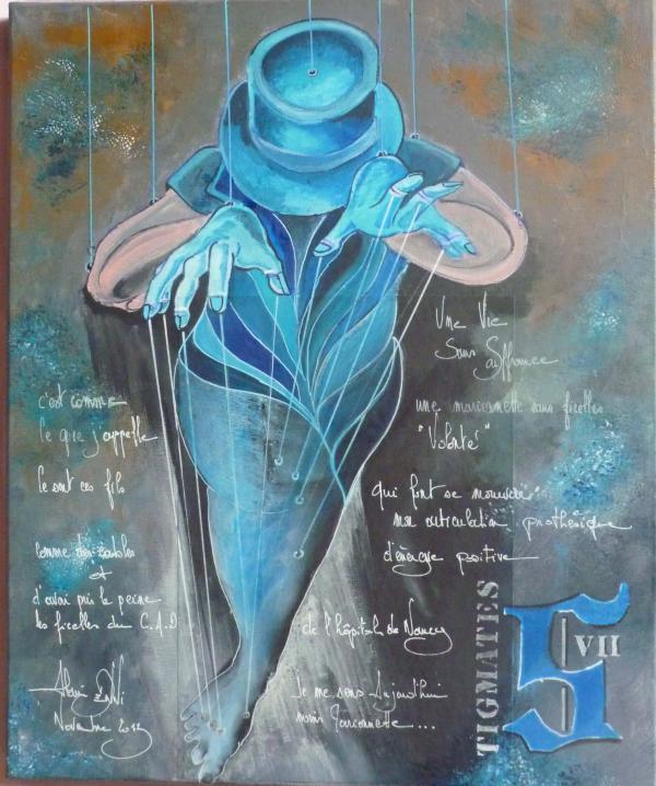 Peinture, série sur la souffrance...Stigmates '' VII ''
