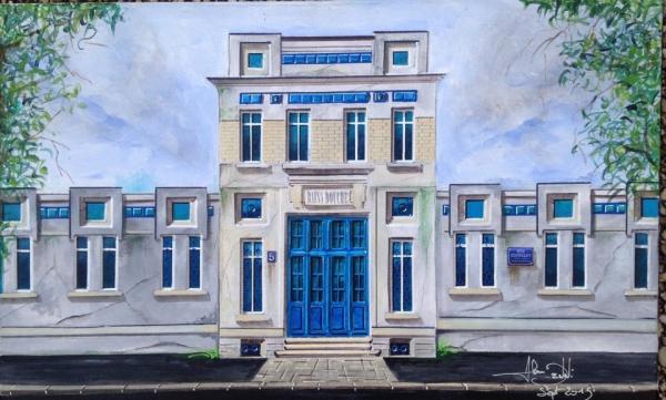 oeuvre du 09/2015   Série figurative ...'' Renaissance urbaine ''