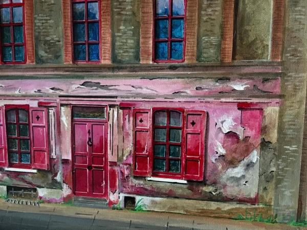 Extrait d'une toile : Londres , 4 Princelet street .